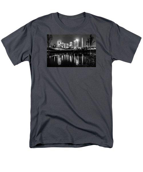 Skyline Of Birmingham Alabama From Railroad Park Men's T-Shirt  (Regular Fit) by Alex Grichenko