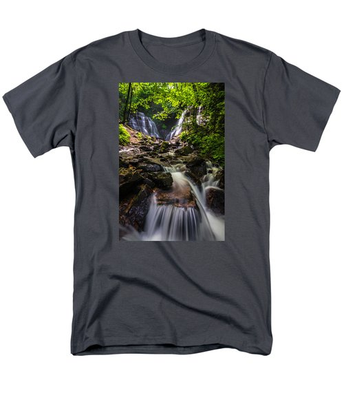 Men's T-Shirt  (Regular Fit) featuring the photograph Soco Falls by Serge Skiba