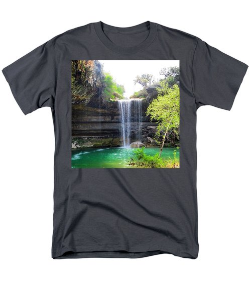 Spent The Day At Hamilton Pool. Yes Men's T-Shirt  (Regular Fit) by Austin Tuxedo Cat