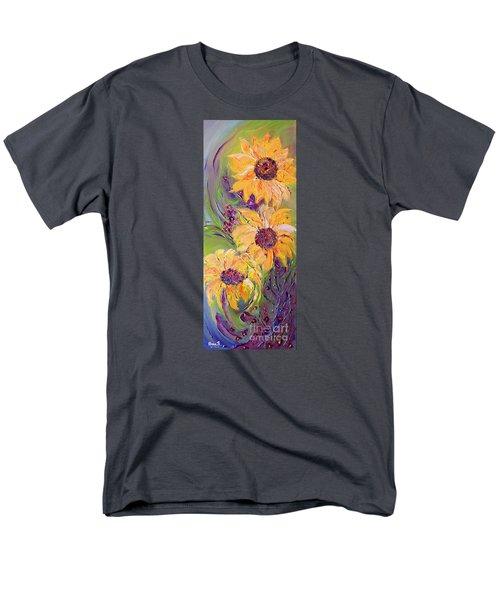 Sunflowers Men's T-Shirt  (Regular Fit) by AmaS Art