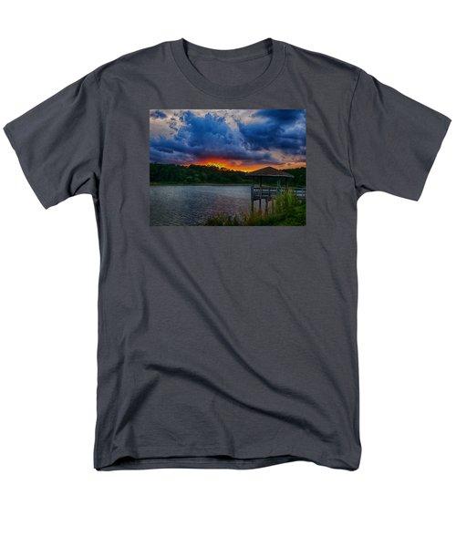 Men's T-Shirt  (Regular Fit) featuring the photograph Sunset Huntington Beach State Park by Bill Barber