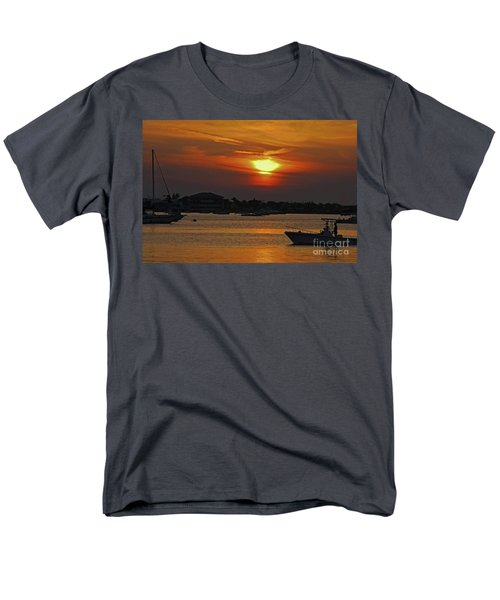 Men's T-Shirt  (Regular Fit) featuring the photograph 1- Sunset Over The Intracoastal by Joseph Keane