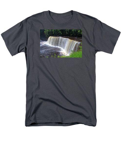 Tahquamenon Upper Falls IIi Men's T-Shirt  (Regular Fit) by Michiale Schneider