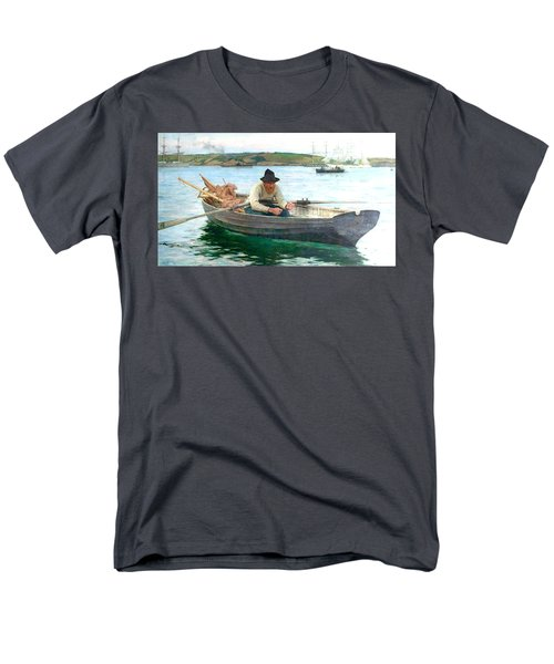 Men's T-Shirt  (Regular Fit) featuring the painting The Fisherman by Henry Scott Tuke