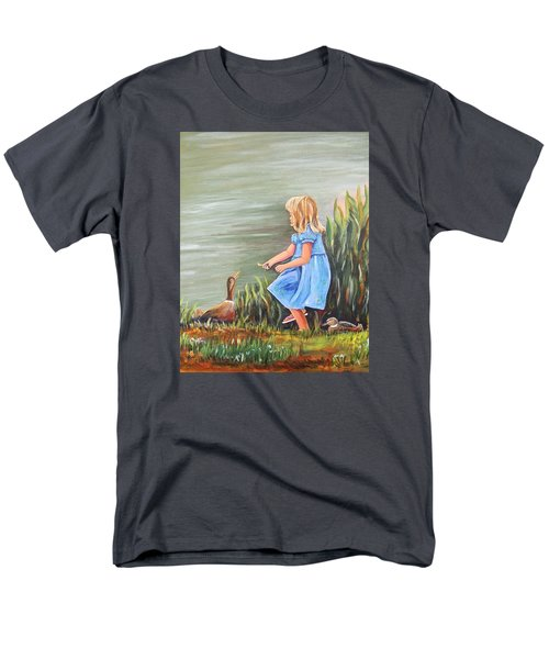 Tori And Her Ducks Men's T-Shirt  (Regular Fit) by Patricia Piffath