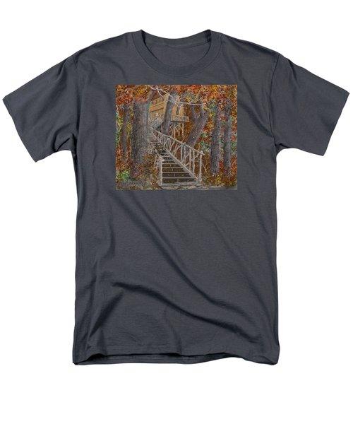 Tree House #1  Men's T-Shirt  (Regular Fit) by Jim Hubbard