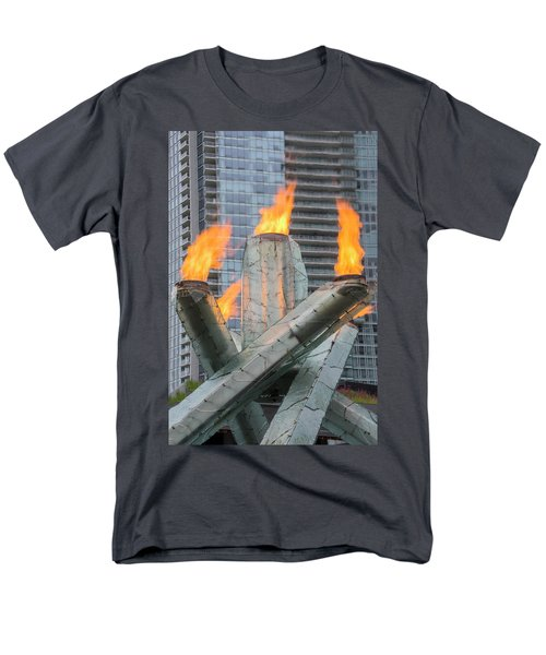 Vancouver Olympic Cauldron Men's T-Shirt  (Regular Fit) by Ross G Strachan