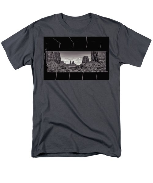 Men's T-Shirt  (Regular Fit) featuring the photograph Window Into Monument Valley by Eduard Moldoveanu
