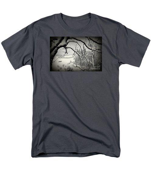 Men's T-Shirt  (Regular Fit) featuring the photograph Winter Scene In Switzerland by Susanne Van Hulst