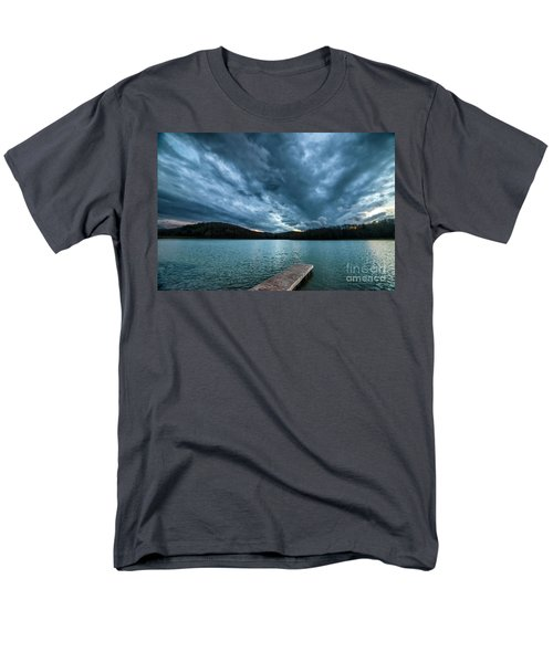 Men's T-Shirt  (Regular Fit) featuring the photograph Winter Storm Clouds by Thomas R Fletcher
