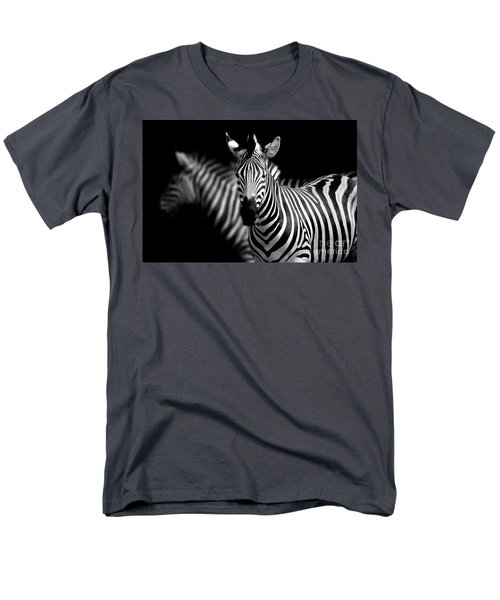 Men's T-Shirt  (Regular Fit) featuring the photograph Zebra by Charuhas Images