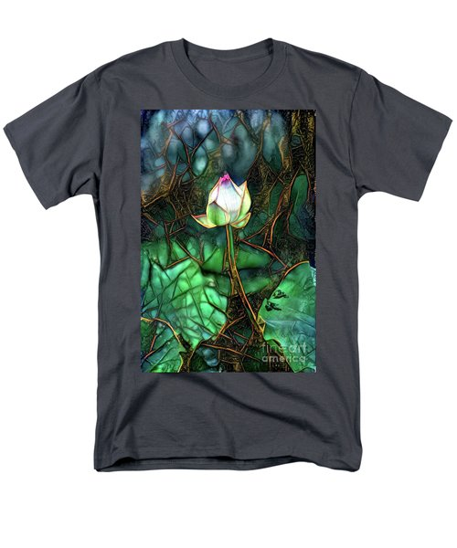 Jeweled Water Lilies Men's T-Shirt  (Regular Fit)