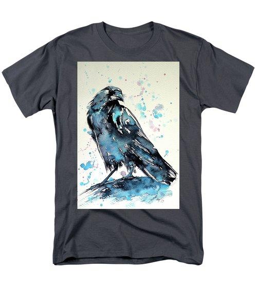 Men's T-Shirt  (Regular Fit) featuring the painting Crow by Kovacs Anna Brigitta