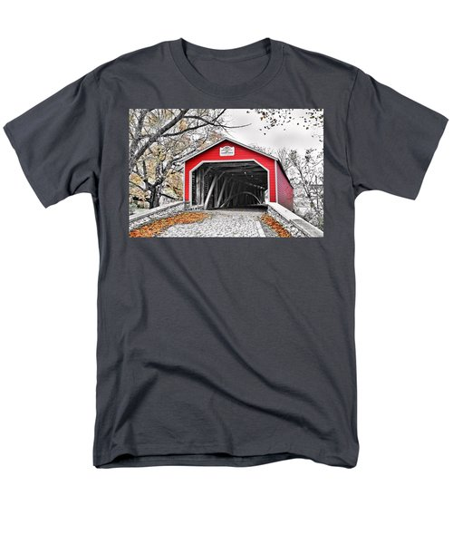 Men's T-Shirt  (Regular Fit) featuring the photograph 1839 Kreidersville Bridge by DJ Florek