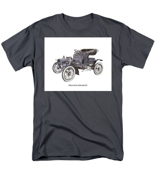 Men's T-Shirt  (Regular Fit) featuring the drawing 1906 Knox Model F 3 Surry by Jack Pumphrey