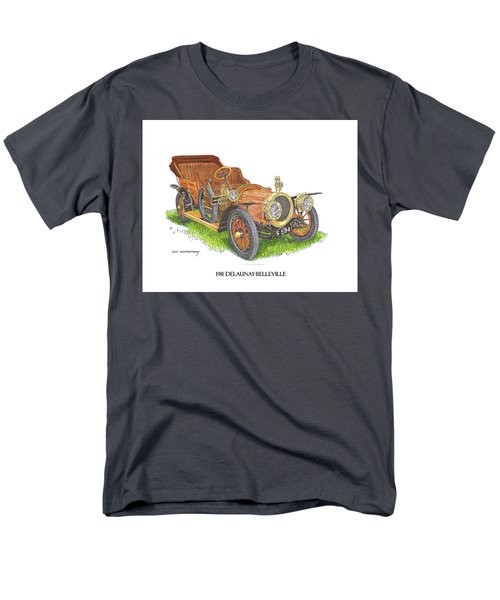Men's T-Shirt  (Regular Fit) featuring the painting 1911 Delaunay Belleville Open Tourer by Jack Pumphrey