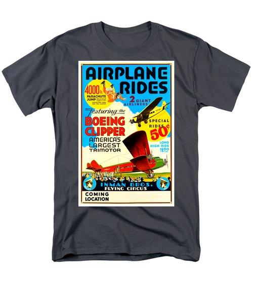 1929 Boeing Clipper Vintage Flying Circus Poster Men's T-Shirt  (Regular Fit) by Peter Gumaer Ogden Collection