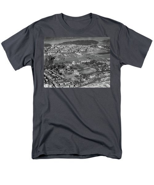 Men's T-Shirt  (Regular Fit) featuring the photograph 1930's Northern Manhattan Aerial  by Cole Thompson