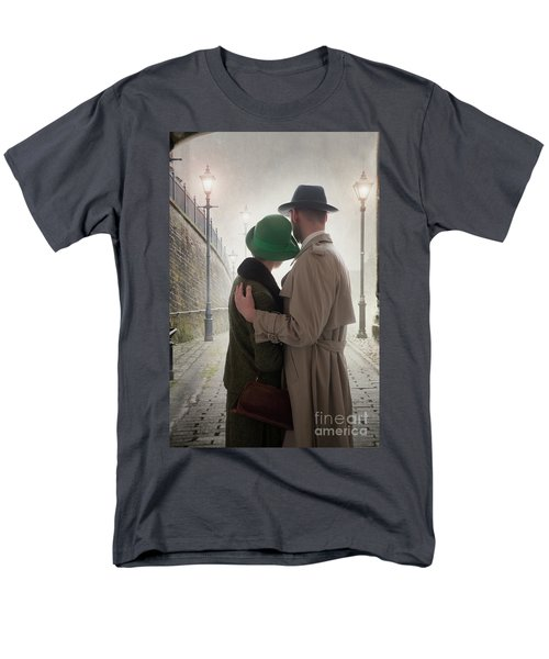 1940s Couple At Dusk  Men's T-Shirt  (Regular Fit) by Lee Avison