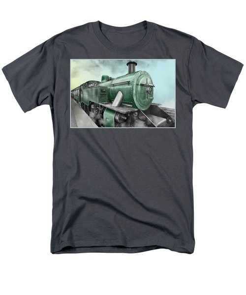 1940's Steam Train Men's T-Shirt  (Regular Fit) by Marty Garland