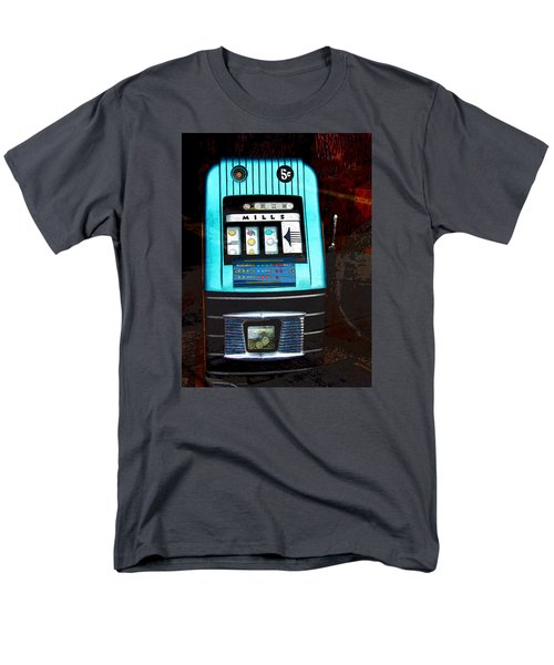 1945 Mills High Top 5 Cent Nickel Slot Machine Men's T-Shirt  (Regular Fit) by Karon Melillo DeVega
