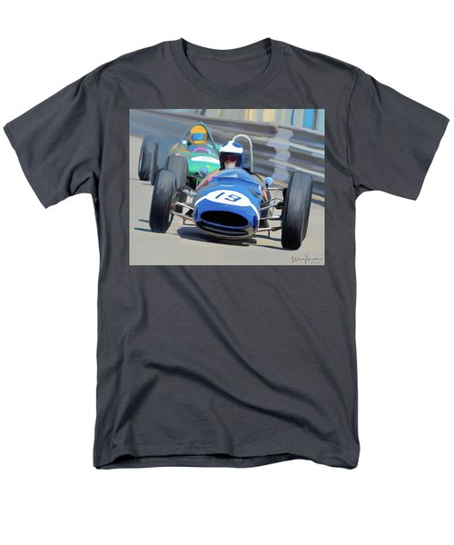 1963 Cooper T66 Coming Out Of Monaco's Mirabeau Men's T-Shirt  (Regular Fit) by Wally Hampton
