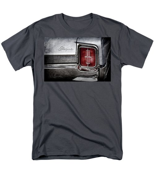 Men's T-Shirt  (Regular Fit) featuring the photograph 1965 Oldsmobile Starfire Taillight Emblem -0212ac by Jill Reger