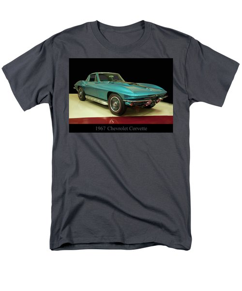 Men's T-Shirt  (Regular Fit) featuring the digital art 1967 Chevrolet Corvette 2 by Chris Flees