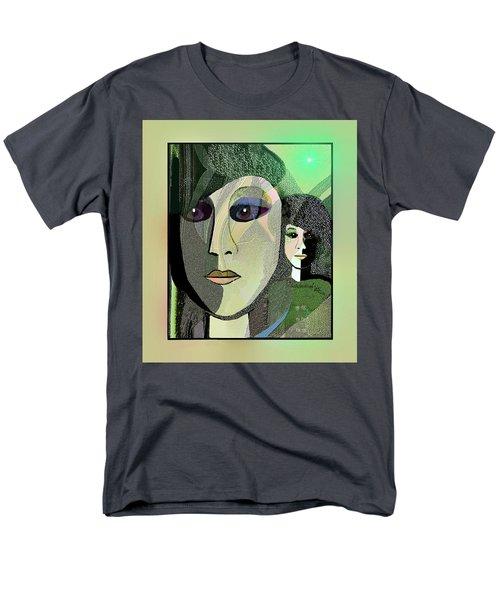 Men's T-Shirt  (Regular Fit) featuring the digital art 1968 - A Dolls Head by Irmgard Schoendorf Welch
