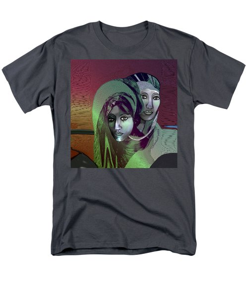 Men's T-Shirt  (Regular Fit) featuring the digital art 1972 - 0n A Gloomy Day - 2017 by Irmgard Schoendorf Welch