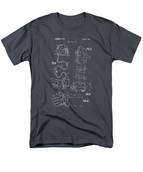 1973 Space Suit Elements Patent Artwork - Gray Men's T-Shirt  (Regular Fit) by Nikki Marie Smith