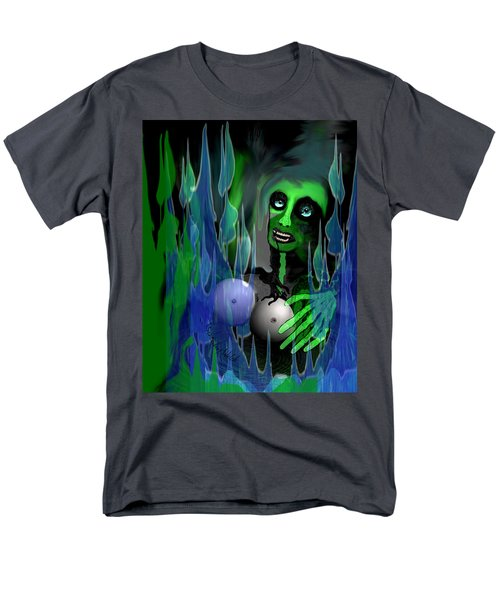 Men's T-Shirt  (Regular Fit) featuring the digital art 1981 - But My New Silicon Breasts Will Last Forever 2017 by Irmgard Schoendorf Welch