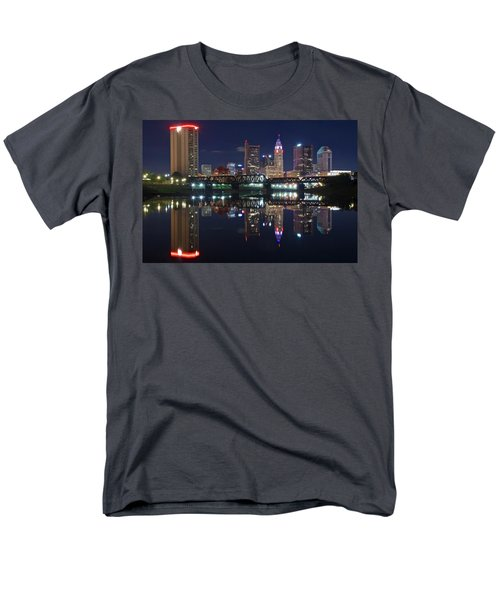 Columbus Ohio Men's T-Shirt  (Regular Fit) by Frozen in Time Fine Art Photography