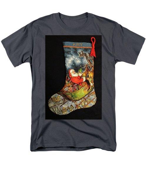 Cross-stitch Stocking Men's T-Shirt  (Regular Fit) by Farol Tomson