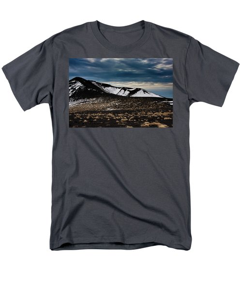Men's T-Shirt  (Regular Fit) featuring the photograph Etna, Red Mount Crater by Bruno Spagnolo
