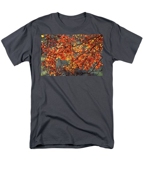 Men's T-Shirt  (Regular Fit) featuring the photograph Fall Leaves by Nicholas Burningham