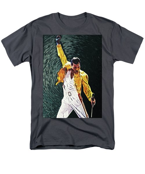 Freddie Mercury Men's T-Shirt  (Regular Fit) by Taylan Apukovska
