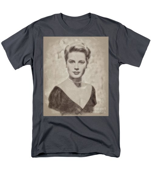 Grace Kelly, Actress And Princess Men's T-Shirt  (Regular Fit) by John Springfield