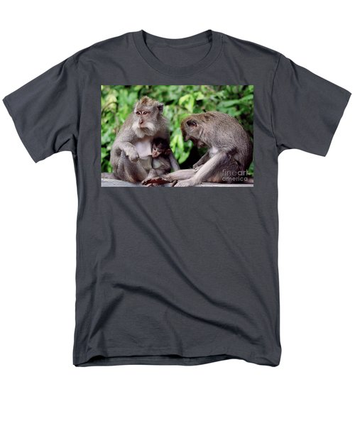 Long Tailed Macaques  Men's T-Shirt  (Regular Fit) by Cassandra Buckley