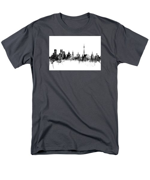 Moscow Russia Skyline Men's T-Shirt  (Regular Fit) by Michael Tompsett