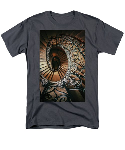 Men's T-Shirt  (Regular Fit) featuring the photograph Ornamented Spiral Staircase by Jaroslaw Blaminsky