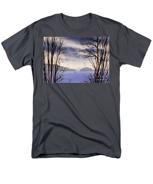 Men's T-Shirt  (Regular Fit) featuring the painting Quiet Shore by James Williamson