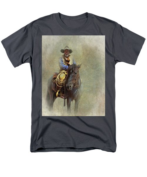 Men's T-Shirt  (Regular Fit) featuring the photograph Ride Em Cowboy by David and Carol Kelly