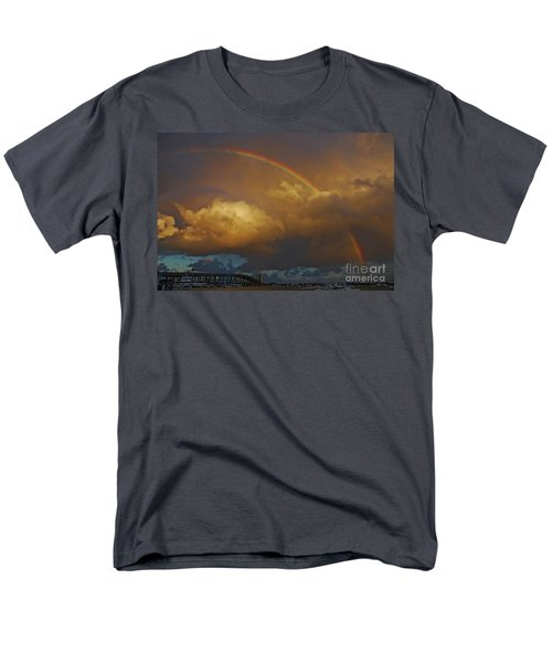 Men's T-Shirt  (Regular Fit) featuring the photograph 2- Singer Island Stormbow by Rainbows