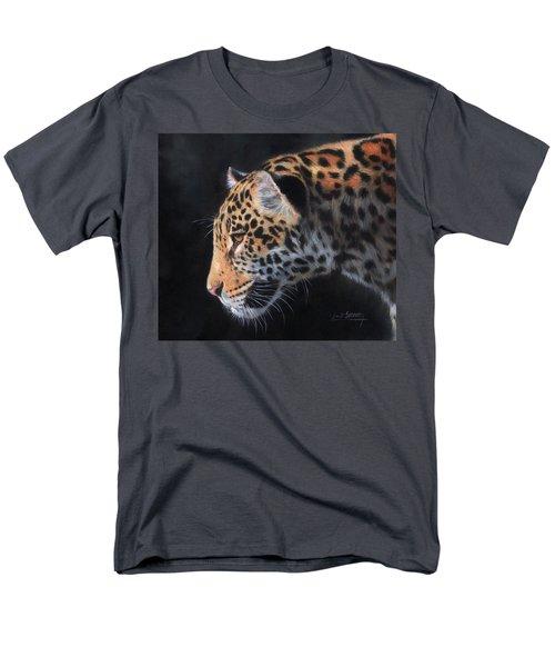 South American Jaguar Men's T-Shirt  (Regular Fit) by David Stribbling