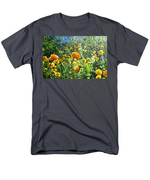 Spring Flowers In The Rain Men's T-Shirt  (Regular Fit) by Tamara Sushko