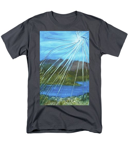 Men's T-Shirt  (Regular Fit) featuring the mixed media Sunshine Over Boise by Angela Stout