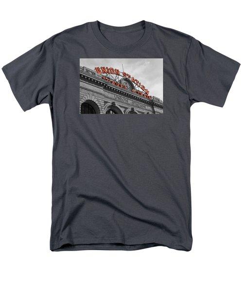 Union Station - Denver  Men's T-Shirt  (Regular Fit) by Mountain Dreams