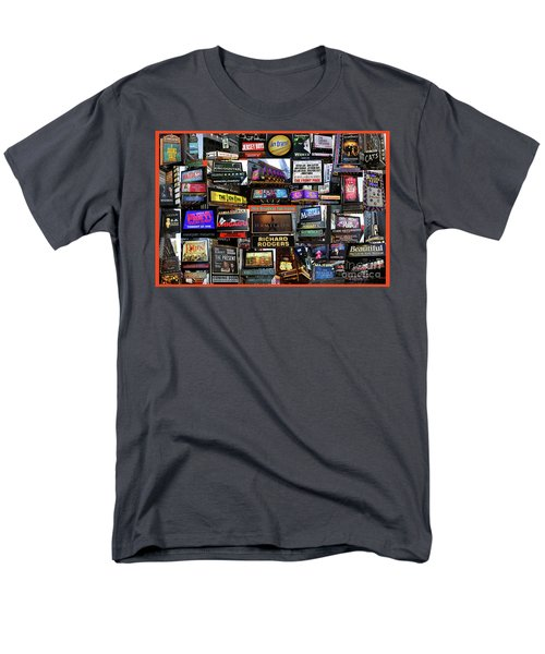 Men's T-Shirt  (Regular Fit) featuring the photograph 2016 Broadway Fall Collage by Steven Spak