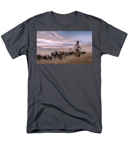 2016 Reno Cattle Drive Men's T-Shirt  (Regular Fit) by Rick Mosher